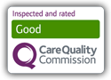 Inspected and Rated Good by the Care Quality Commission