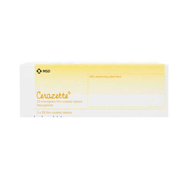 Cerazette medication packs